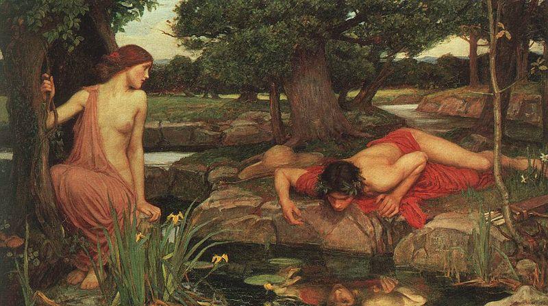 """Echo and Narcissus"" John William Waterhouse (1903)"